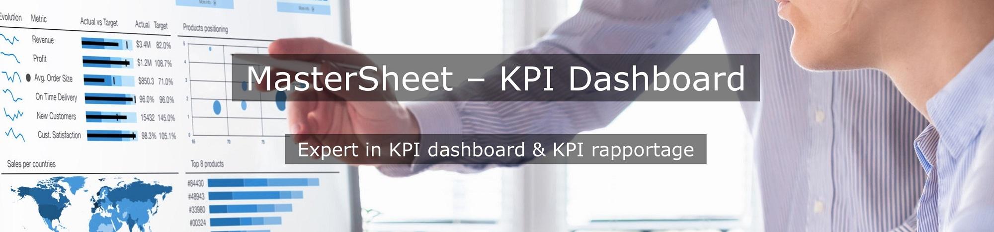 KPI Dashboard en KPI rapportage: MasterSheet helpt u met het bouwen van dashboard en rapportage