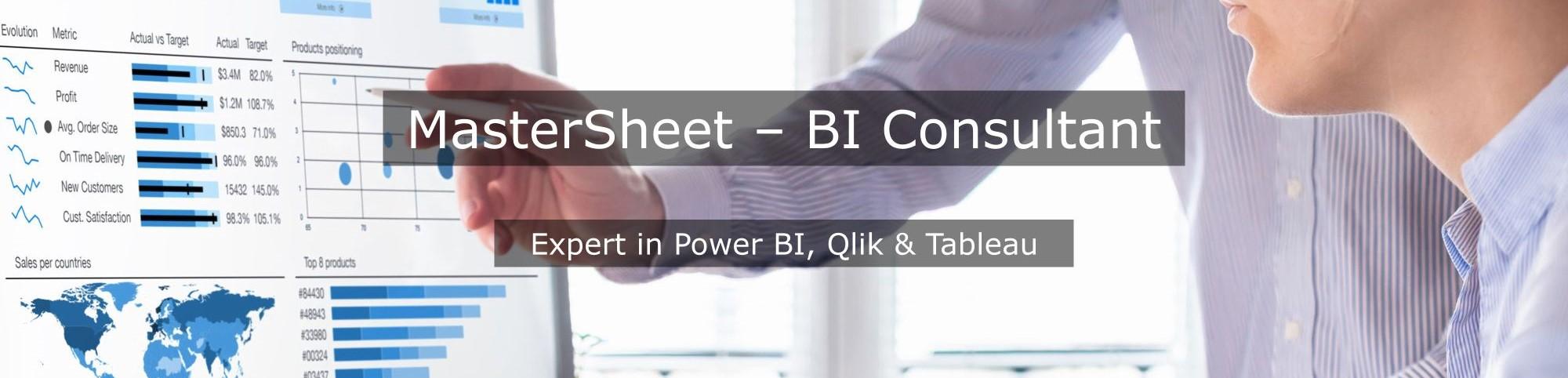 BI consultant Qlikview: MasterSheet helpt u met het bouwen van dashboard en rapportage in Qlikview en Qliksense